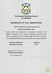 Certificate GTC